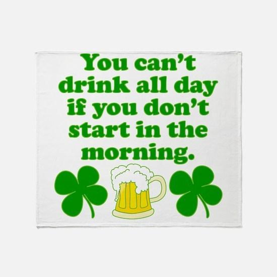 Start In the Morning Throw Blanket
