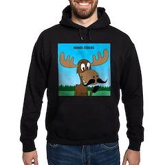 Moose-Stache Hoodie (dark)