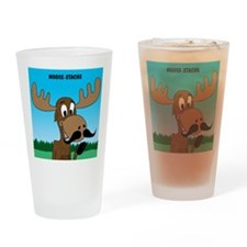 Moose-Stache Drinking Glass
