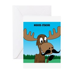 Moose-Stache Greeting Card