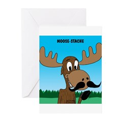 Moose-Stache Greeting Cards (Pk of 20)