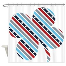 Stars And Stripes Shamrock Shower Curtain