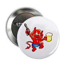 "Beer Drinking Pistol Devil 2.25"" Button"