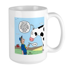 Scout Meets Cow Large Mug