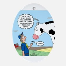 Scout Meets Cow Ornament (Oval)