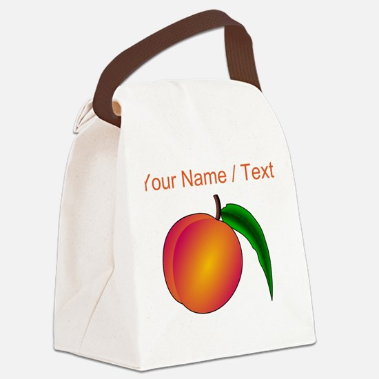 Custom Peach Canvas Lunch Bag