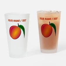 Custom Peach Drinking Glass