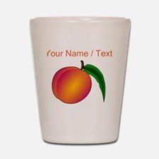 Custom Peach Shot Glass