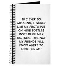 Wine Bottle Missing Journal