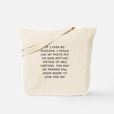 Wine Bottle Missing Tote Bag