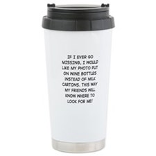 Wine Bottle Missing Travel Mug
