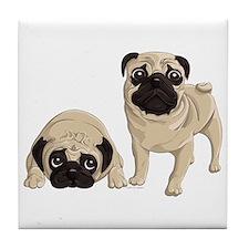 Pugs Tile Coaster
