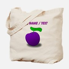 Custom Purple Plum Tote Bag