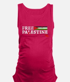 free palestine with flag and blood Maternity Tank