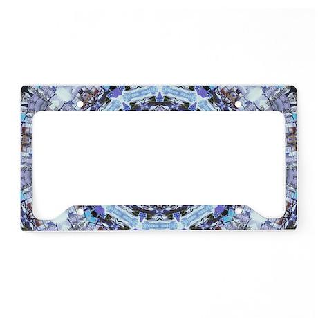 Hippy Pattern License Plate Holder
