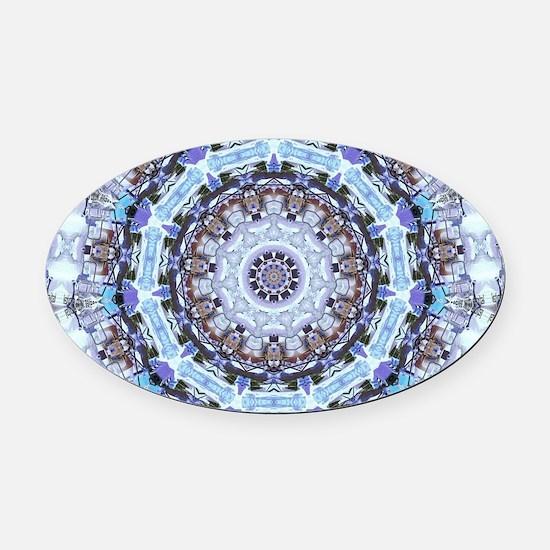 Hippy Pattern Oval Car Magnet