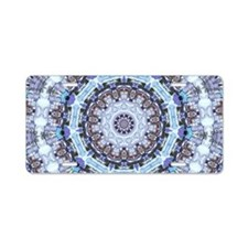 Hippy Pattern Aluminum License Plate