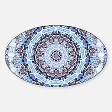 Hippy Pattern Sticker (Oval)