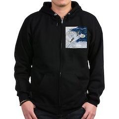Salmon Run Zip Hoodie (dark)