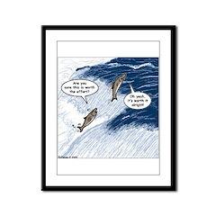 Salmon Run Framed Panel Print