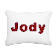Jody Santa Fur Rectangular Canvas Pillow