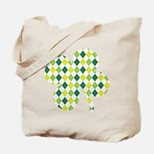 Argyle Shamrock Tote Bag