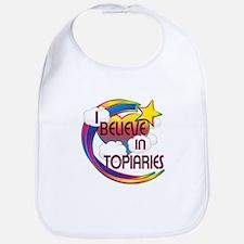 I Believe In Topiaries Cute Believer Design Bib