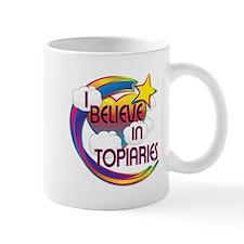 I Believe In Topiaries Cute Believer Design Mug