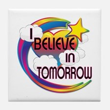 I Believe In Tomorrow Cute Believer Design Tile Co