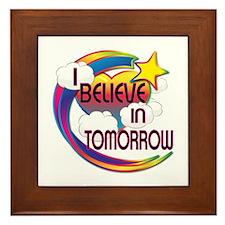 I Believe In Tomorrow Cute Believer Design Framed