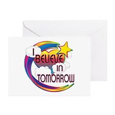 I Believe In Tomorrow Cute Believer Design Greetin