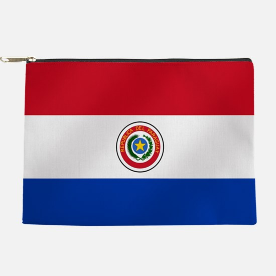 Flag of Paraguay Makeup Pouch