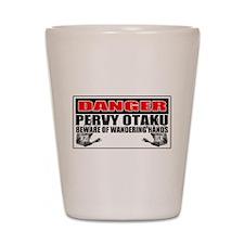 Danger Pervy Otaku Shot Glass