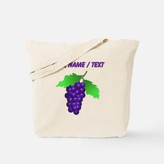 Custom Purple Grapes Tote Bag