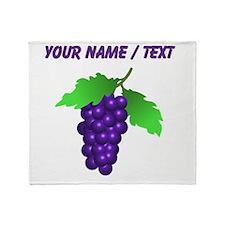 Custom Purple Grapes Throw Blanket
