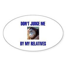 DON'T JUDGE ME Oval Decal