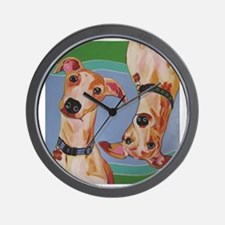 Wuz Up Whippets Wall Clock
