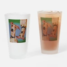 Wuz Up Whippets Drinking Glass