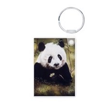 Panda Bear Munching Keychains