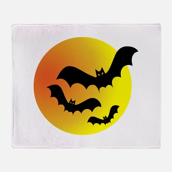 Bat Silhouettes Throw Blanket