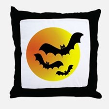 Bat Silhouettes Throw Pillow