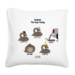 Asp Family Square Canvas Pillow
