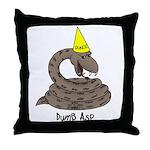 Dumb Asp Throw Pillow