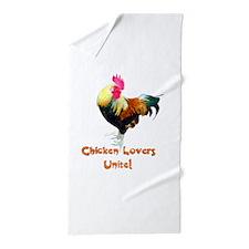 Chicken Lovers Unite! Beach Towel