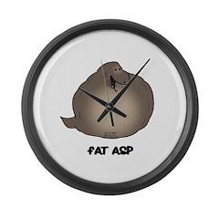 Fat Asp Large Wall Clock