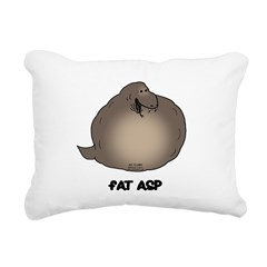 Fat Asp Rectangular Canvas Pillow