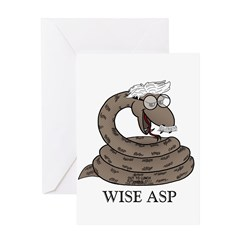 Wise Asp Greeting Card