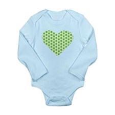 Irish Shamrock Heart Body Suit