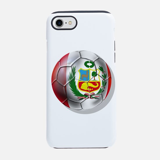 Peru Soccer Ball iPhone 7 Tough Case