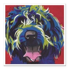 """Red Blue & Lime Wire Hai Square Car Magnet 3"""" x 3"""""""